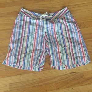 J Crew multicolor board shorts 36